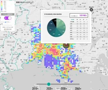 高梁川みらい人口MAP
